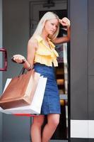 vermoeide shopper foto