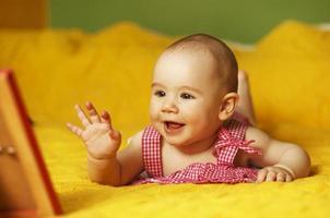 schattige babymeisje foto