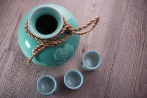 japan sake fles set foto