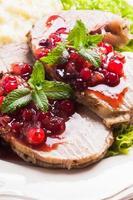 rundvlees met cranberrysaus