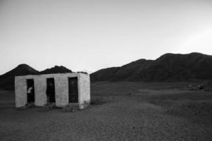 woestijn toilet foto