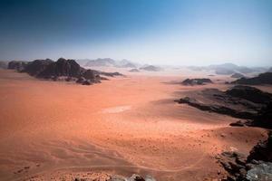 woestijn uit de lucht foto