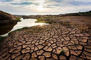 droogte land zo lang. foto