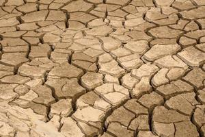 droog land. gebarsten grond achtergrond foto
