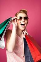 vrouw winkelen foto