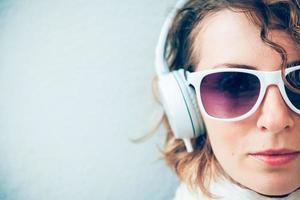 muziek luisteren foto
