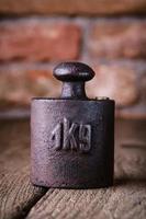 vintage strijkijzer 1 kg gewicht. foto