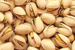 gezouten pistachenoten achtergrond foto