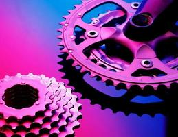bicicle tandwielen en kettingen foto