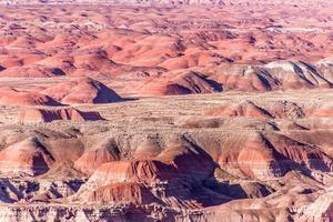 uitzicht over de geschilderde woestijn in arizona, Verenigde Staten foto