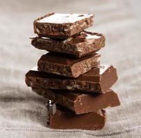 stapel chocolade macro foto