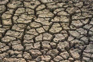 close-up van droge bodemtextuur foto