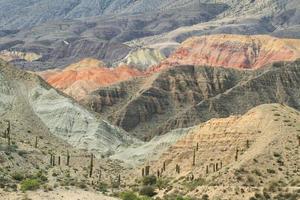 """weergave van merkwaardige bergenvormen in """"quebrada del toro"""", foto"""