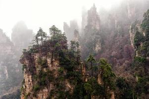 mistige zhangjiajie foto