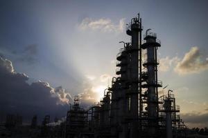 petrochemische kolom foto