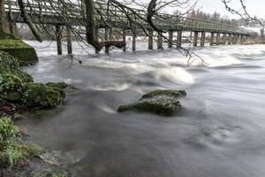 voetbrug bij castleconnell foto