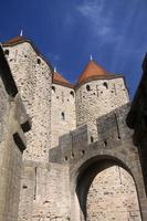stadsmuren van carcassonne foto