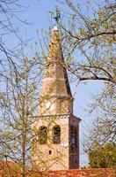 klokkentoren van de st. Euphemia Basilica, Grado foto