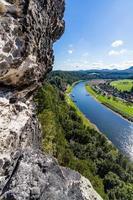 Saksisch Zwitserland. uitzicht vanaf de abdij bastei.