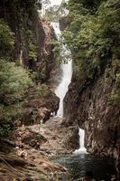 watervallen op het eiland foto