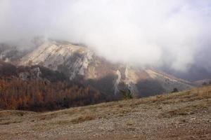 bergen in de herfst foto