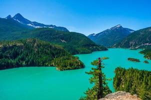 diablo-meer bij het nationale park North Cascades foto