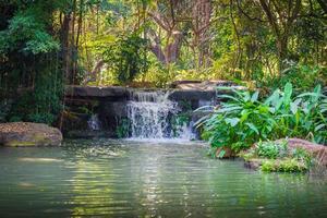 watervallen in het park foto