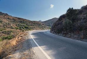 griekenland, de weg in de bergen