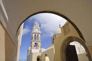 kerk van fira santorini foto