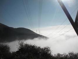 boven de wolken foto
