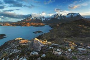 nationaal park torres del paine, patagonië, chili foto