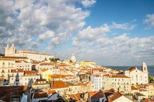 Alfama in Lissabon, Portugal foto