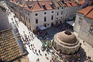 de oude stad van Dubrovnik foto