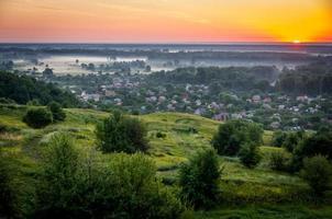 zonsopgang in de zomer foto