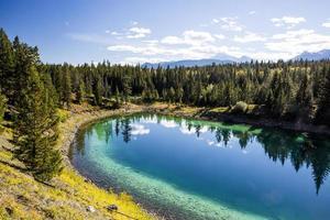 derde meer, vallei van de 5 meren, nationaal park jasper foto