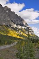 bergweg in de herfst. foto