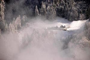 knipperen in de mist