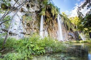 watervallen in nationaal park Plitvicemeren foto