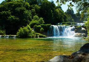 krka watervallen foto