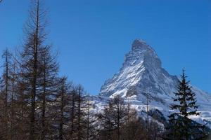 Matterhorn Mountain, Zermatt in Zwitserland foto
