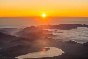 berg zonsopgang foto