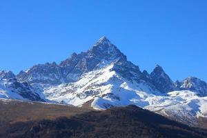 berg met sneeuw foto