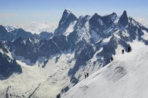 mont blanc bergbeklimmers foto