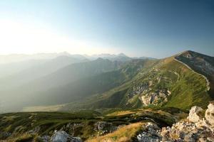 Tatra-gebergte bij zonsopgang foto