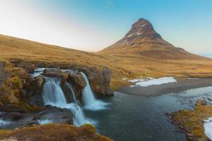 schoonheid van de kirkjufell-berg foto