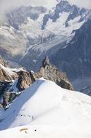 mont blanc bergtoppen foto