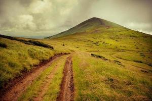 vintage afbeelding van bergen foto
