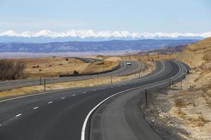 snelweg in New Mexico foto