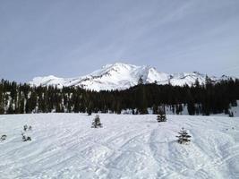 mount shasta in de winter