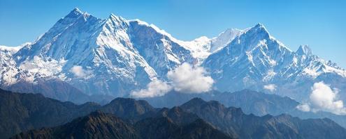 uitzicht op annapurna himal vanaf de jaljala-pas foto